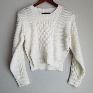 UNIF Cropped Cableknit Sweater size S